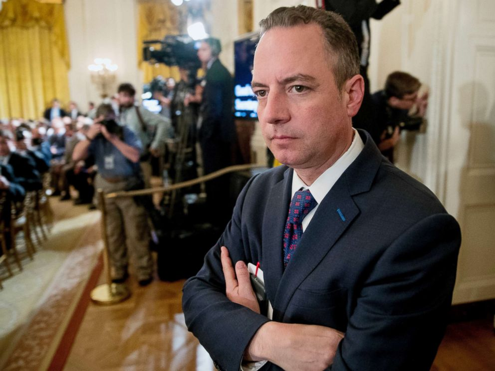 PHOTO: Reince Priebus, chief of staff to President Donald Trump, attends an event at the White House in Washington, June 5, 2017.