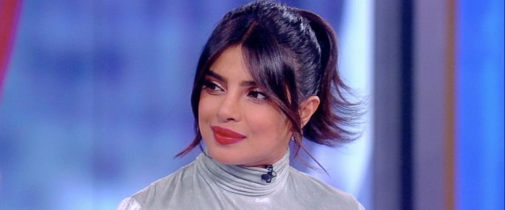 "PHOTO: Priyanka Chopra Jonas discusses her new film ""The Sky is Pink"" and how is helped her heal from grieving her father on ""The View,"" Oct. 8, 2019."