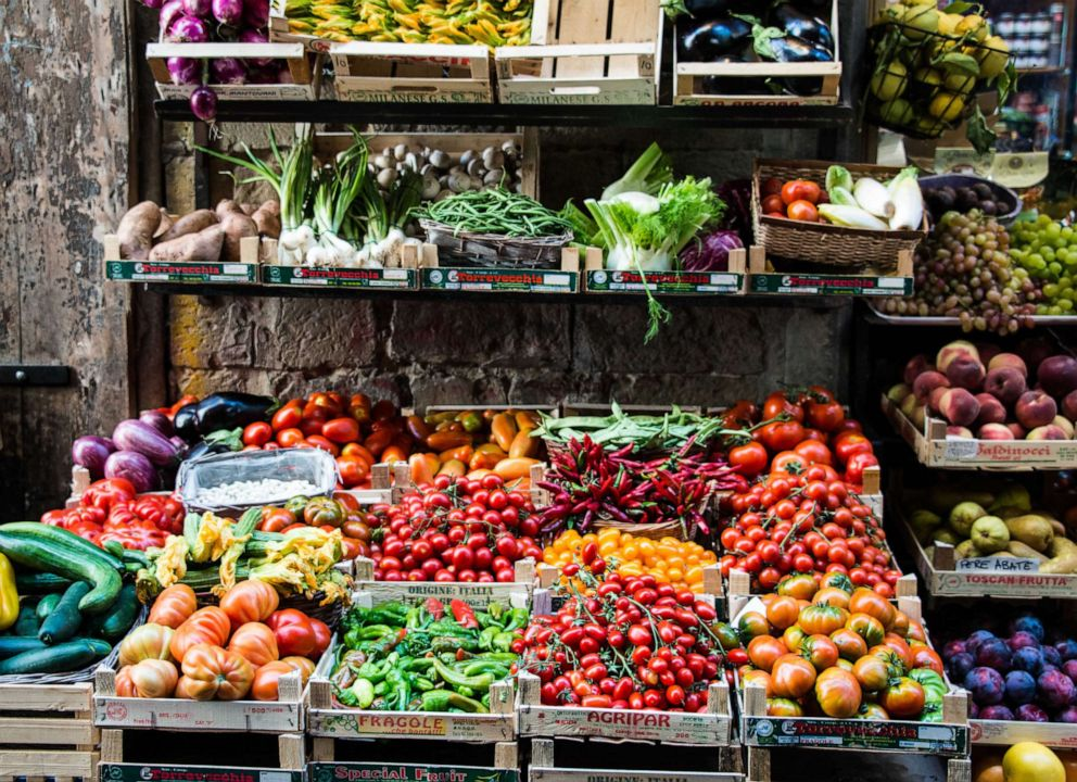PHOTO: Produce are sold at an outdoor market in this stock photo.