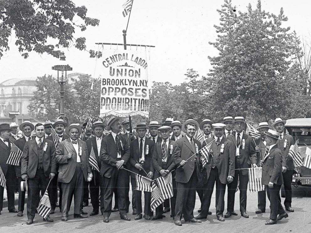 PHOTO: The Brooklyn Delegation at an anti-prohibition parade, June 14, 1919, in Washington D.C.