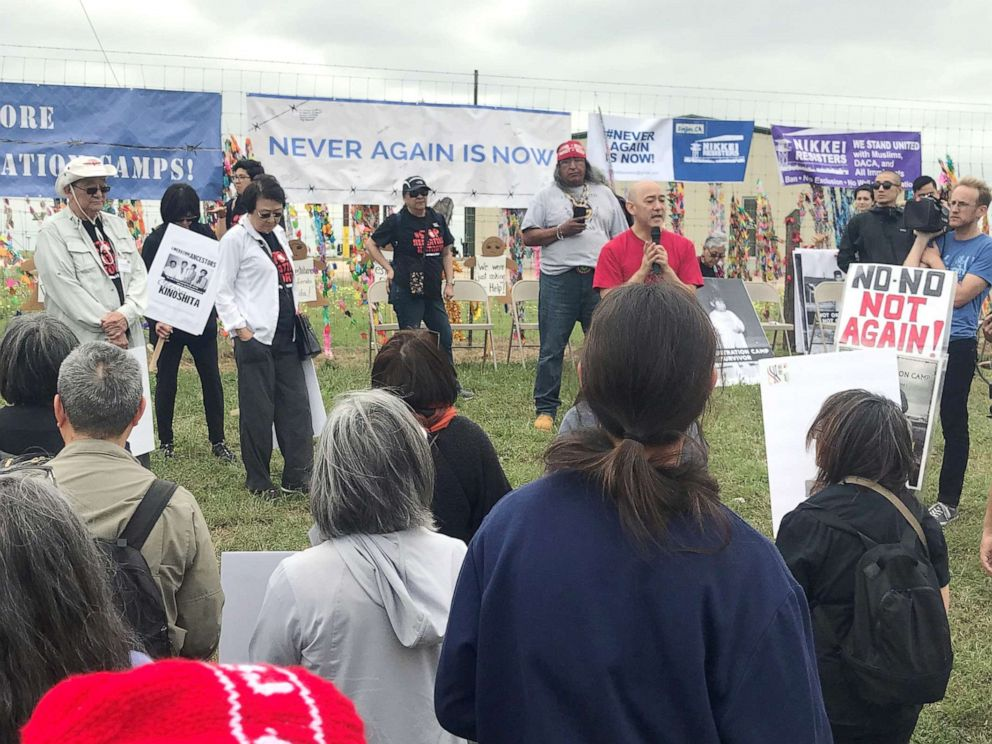 PHOTO: Protest at South Texas Residential Family Center in Dilley, Texas, March, 30, 2019.