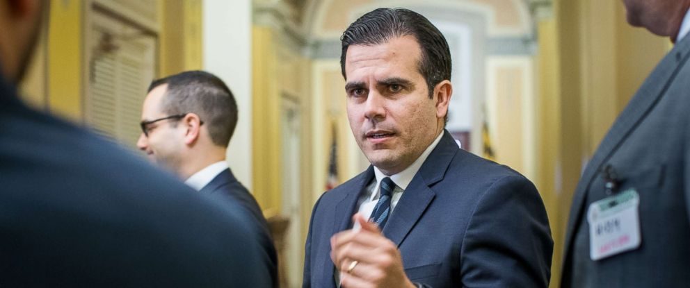 PHOTO: Gov. Ricardo A. Rossello of Puerto Rico is pictured on Capitol Hill in Washington, Jan. 10, 2018.