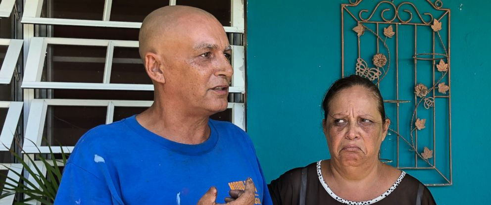 PHOTO: Angel Cartagena and his wife, Soccorro Mollet. The couple and tens of thousands of other Puerto Ricans remain without power.