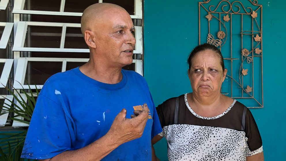 Angel Cartagena and his wife, Soccorro Mollet. The couple and tens of thousands of other Puerto Ricans remain without power.