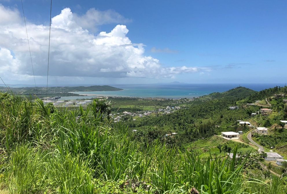 The view looking down to Yabucoa, Puerto Rico.