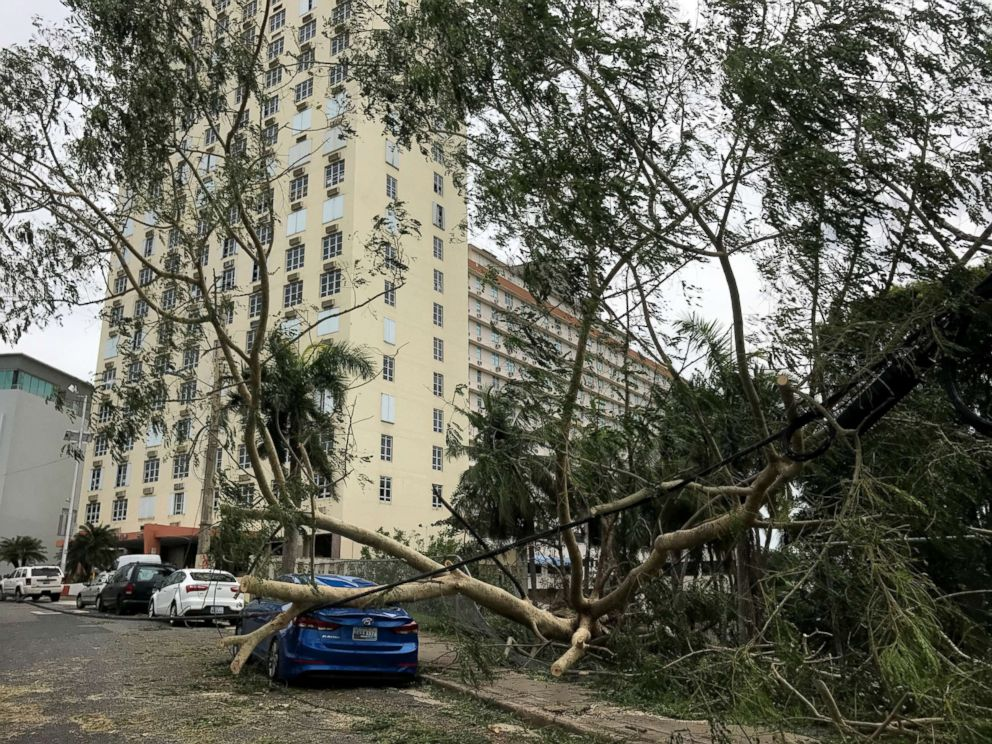 PHOTO: Hurricane Irma hits Guaynabo, Puerto Rico, Sept. 7, 2017.