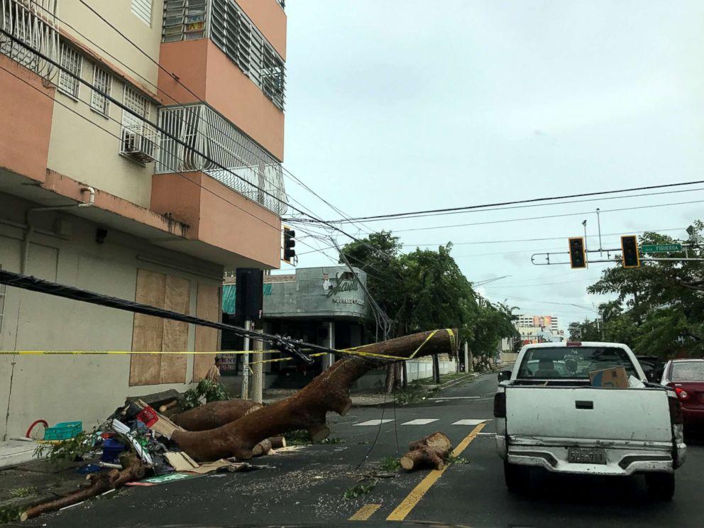 PHOTO: Hurricane Irma hits Guaynabo, Puerto Rico, Sept. 7, 2017.