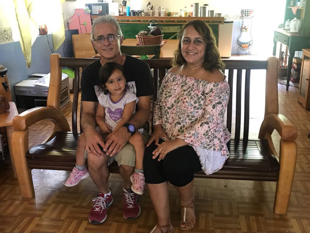 PHOTO: Jazmin Mendez and her family, pictured in an undated handout photo, were one of the last two customers to get power after losing it during Hurricane Maria.