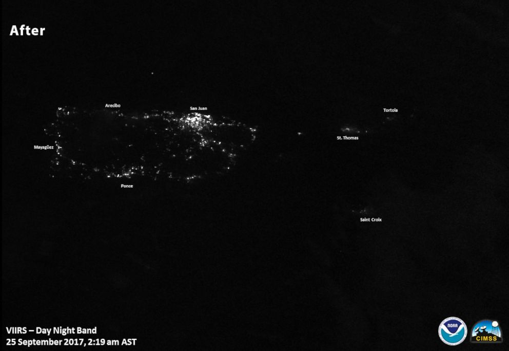PHOTO: Images of lights on in Puerto Rico after Hurricane Maria.