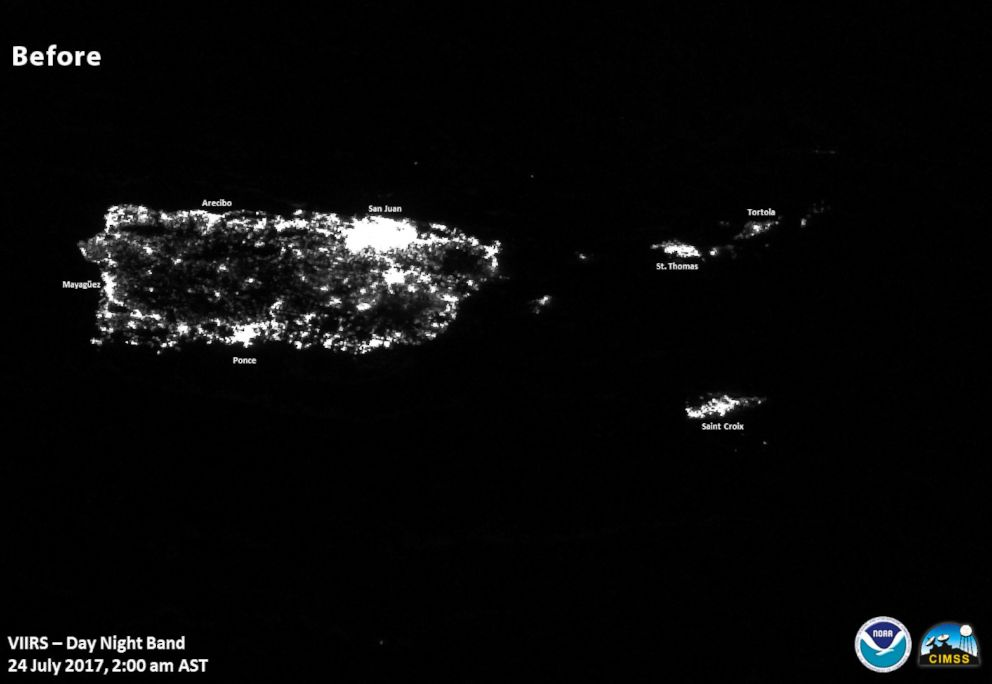 PHOTO: Images of lights on in Puerto Rico before Hurricane Maria.