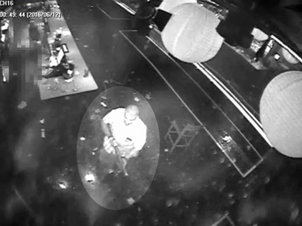 PHOTO: Surveillance footage shows Pulse nightclub shooter Omar Mateen inside the club on the night of June 12, 2016, in Orlando, Fla.