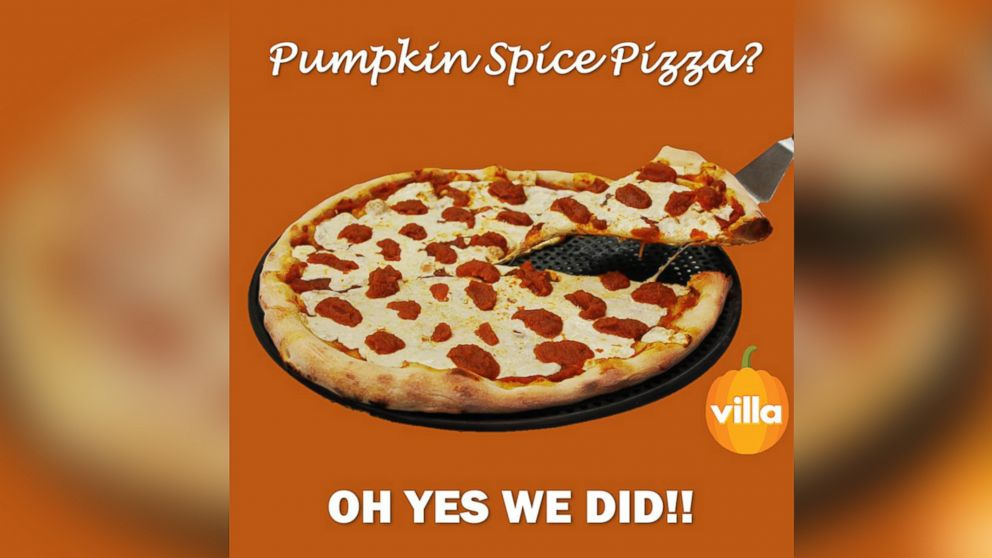 "The restaurant group Villa Italian Kitchen has unveiled a new ""Pumpkin Spice Pizza"" this fall."
