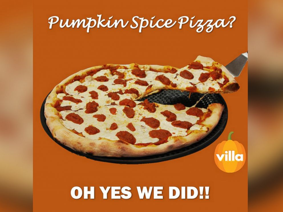 PHOTO: The restaurant group Villa Italian Kitchen has unveiled a new Pumpkin Spice Pizza this fall.