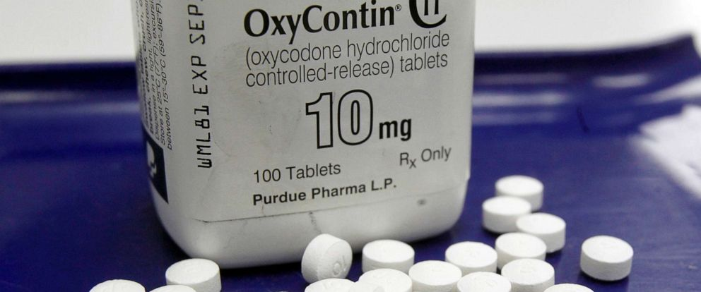 PHOTO: OxyContin pills and a bottle are arranged for a photo at a pharmacy in Montpelier, Vt., Feb. 19, 2013.