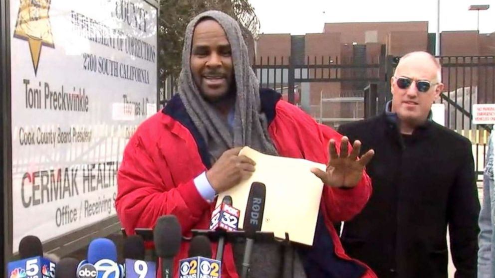 R-Kelly is released from jail in Chicago, March, 09, 2019.