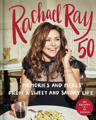 PHOTO: Book cover of RACHAEL RAY 50: Memories and Meals from a Sweet and Savory Life by Rachael Ray.