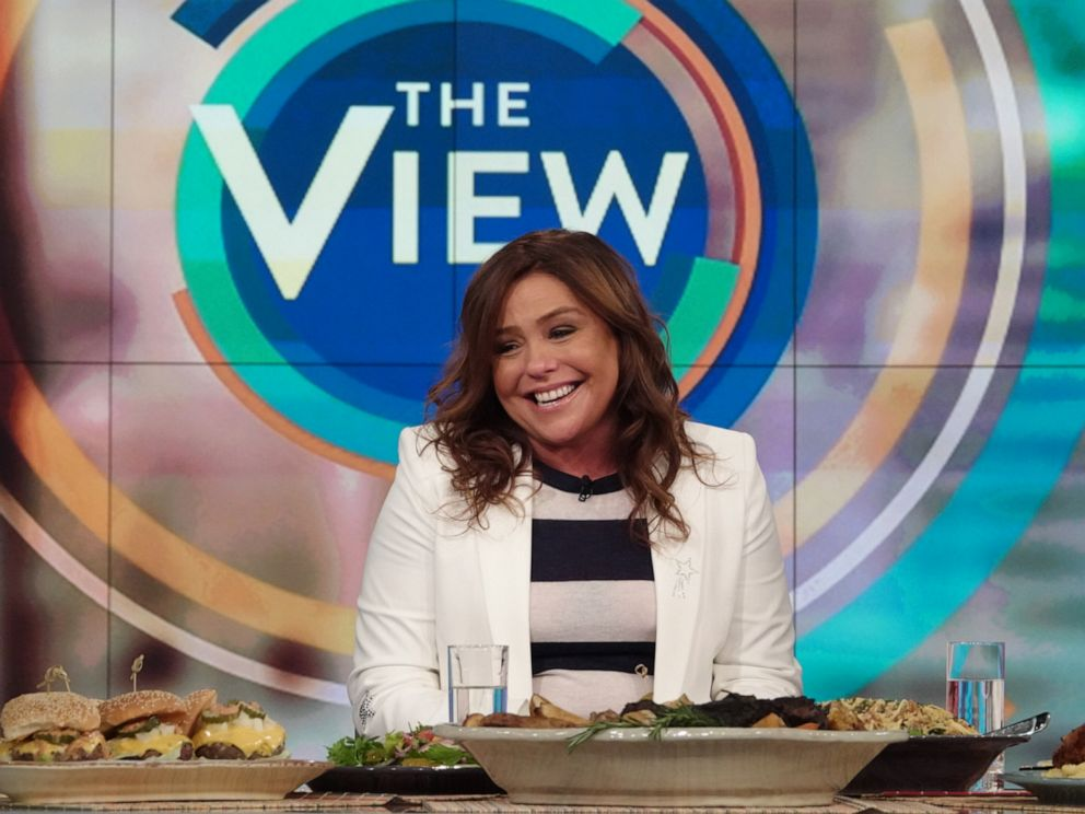 PHOTO: Rachael Ray opens up on The View about why she wrote her mini memoir Rachael Ray 50 on Oct. 15, 2019.