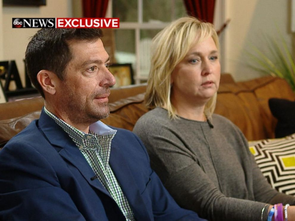 PHOTO: Rae Ann Gruver and Stephen Gruver speak to ABC News Amy Robach about the death of their 18-year-old son, Max Gruver.