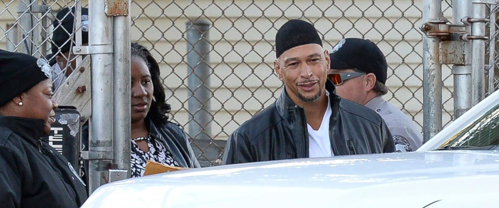 PHOTO: Former Carolina Panthers NFL football player Rae Carruth exits the Sampson Correctional Institution in Clinton, N.C., Oct. 22, 2018.