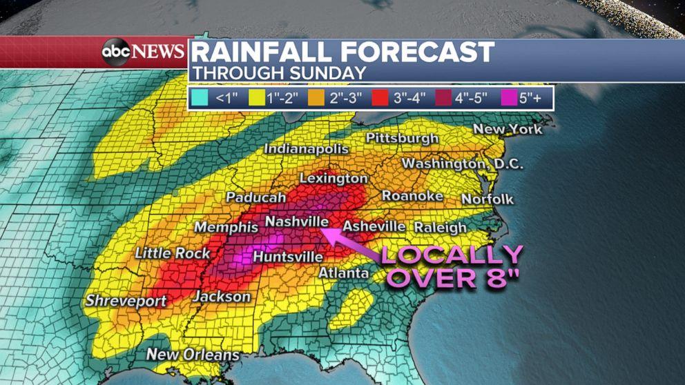 PHOTO: Rainfall Forecast
