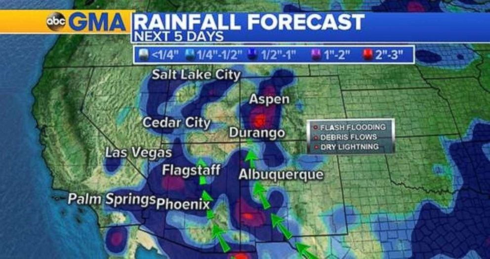 Heavy rains this week will help with fire conditions in the West.