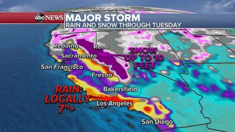 Rescuer killed in traffic collision as storms soak California