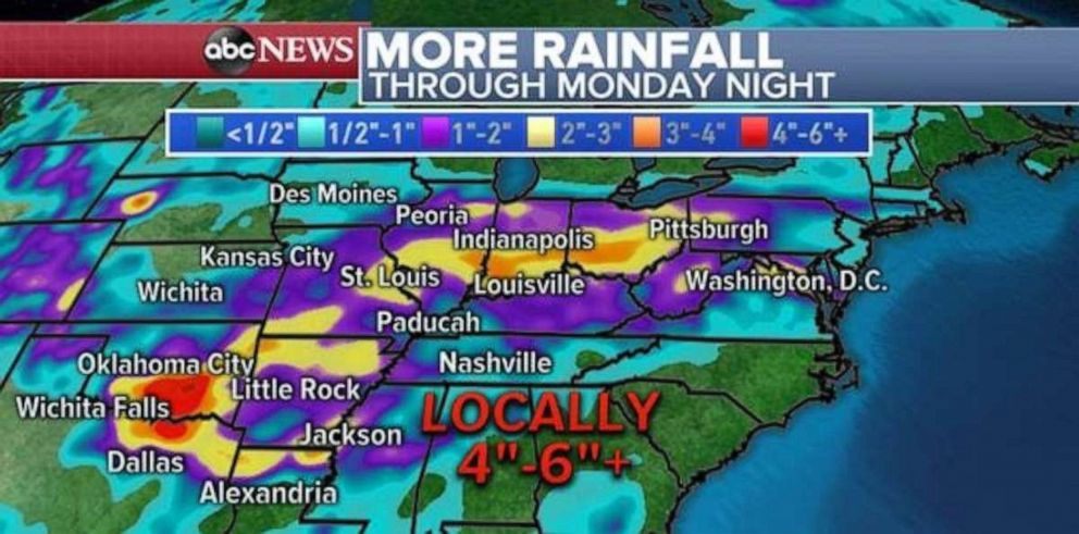 PHOTO: Heavy rainfall is likely in Oklahoma over the next few days.