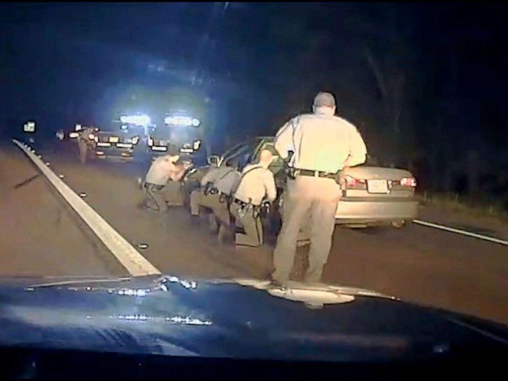 PHOTO: The city of Raleigh, North Carolina, released dashcam footage that shows a suspected kidnapper firing on police as he flees into a forest after a high-speed chase.