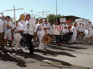 Latino activists march in El Paso to demand action from lawmakers in wake of shooting