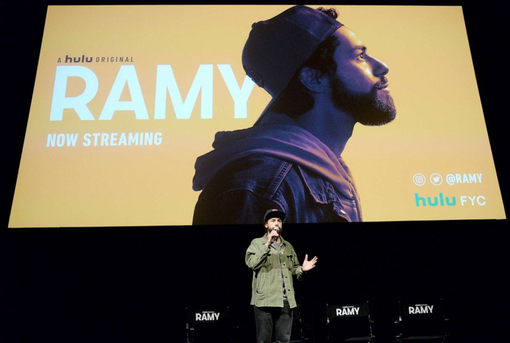 PHOTO: Ramy Youssef speaks during the Hulu Ramy FYC event on May 13, 2019 in Hollywood, Calif.