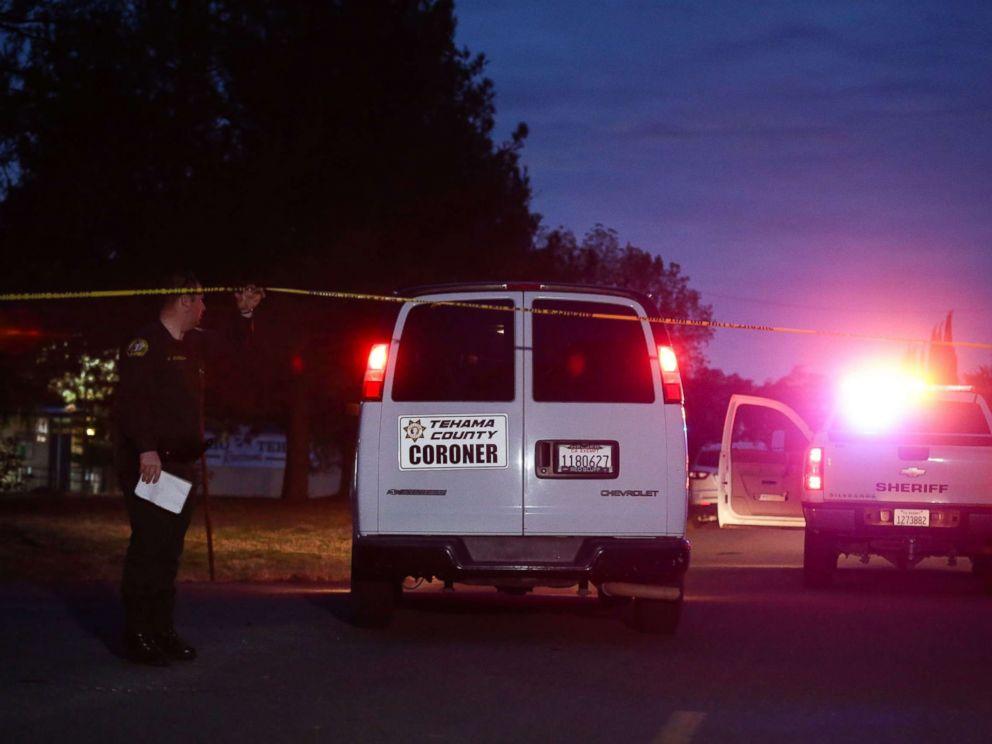 PHOTO: A Tehama County Coroners van enters the Rancho Tehama Elementary school grounds after a shooting on Nov. 14, 2017, in Rancho Tehama, Calif.