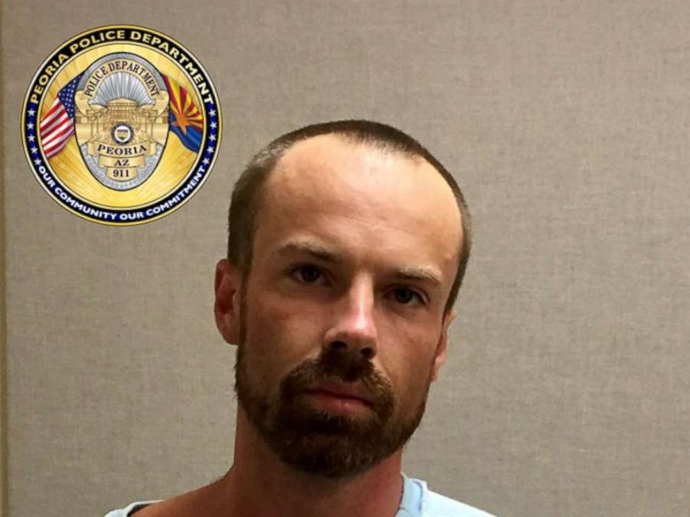 PHOTO: Michael Paul Adams, 27, was arrested for allegedly stabbing a 17-year-old to death at a gas station in Arizona, police said.