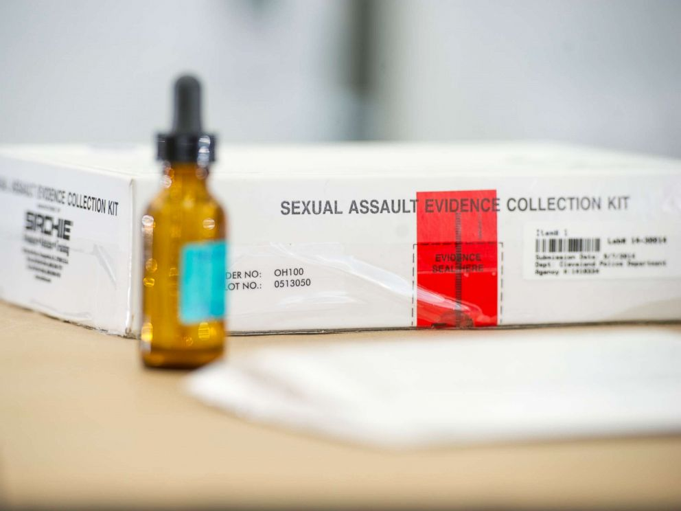PHOTO: A sexual assault evidence collection kit sits in the Ohio Bureau of Criminal Investigation Laboratory on Jan. 27, 2016, in Richfield, Ohio.