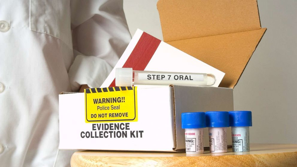 In this stock photo an evidence collection kit used for rapes is pictured.
