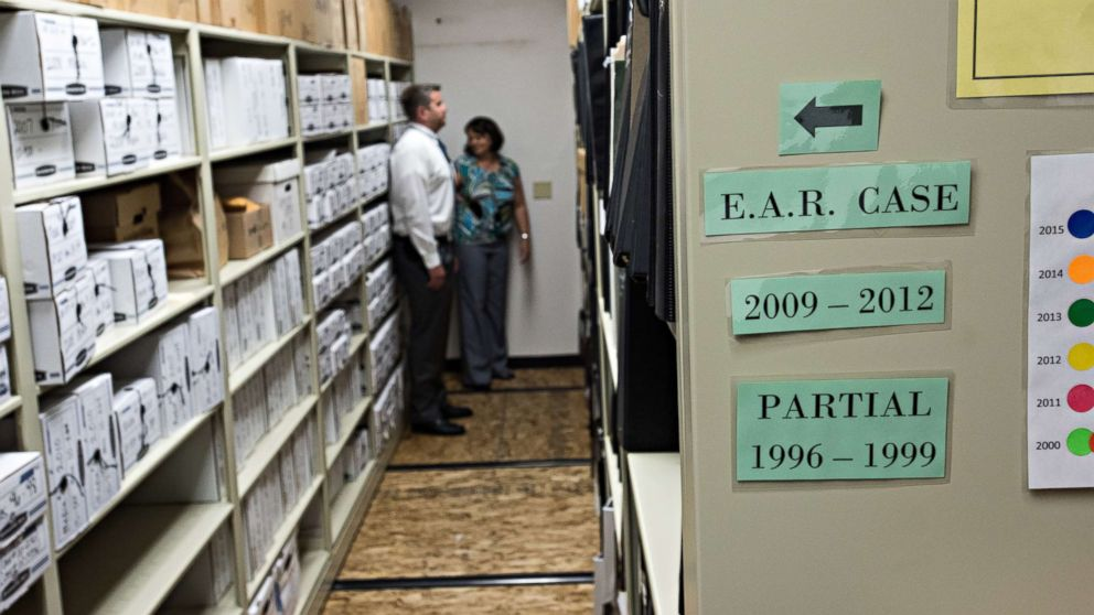 """An evidence room from the """"Golden State Killer"""" investigation."""