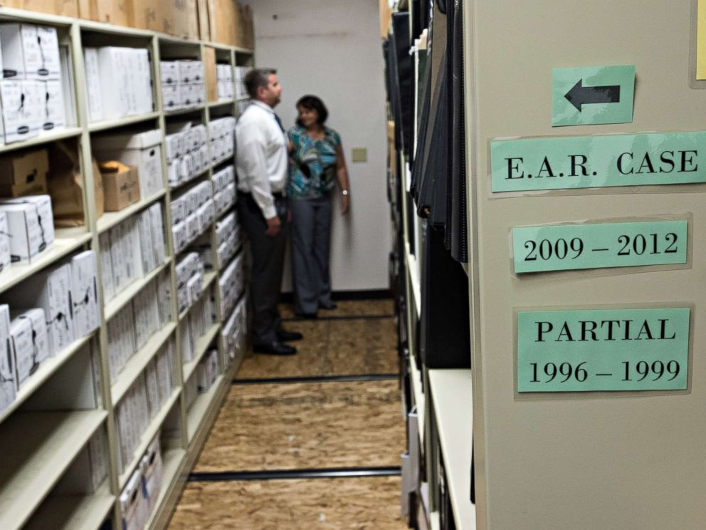 PHOTO: An evidence room from the Golden State Killer investigation.