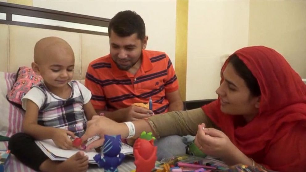 Florida resident Zainab Mughal, 2, is in need of a rare blood type to support her treatment for neuroblastoma.