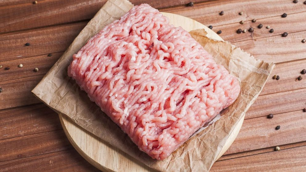 Raw ground turkey meat is pictured in this undated stock photo.