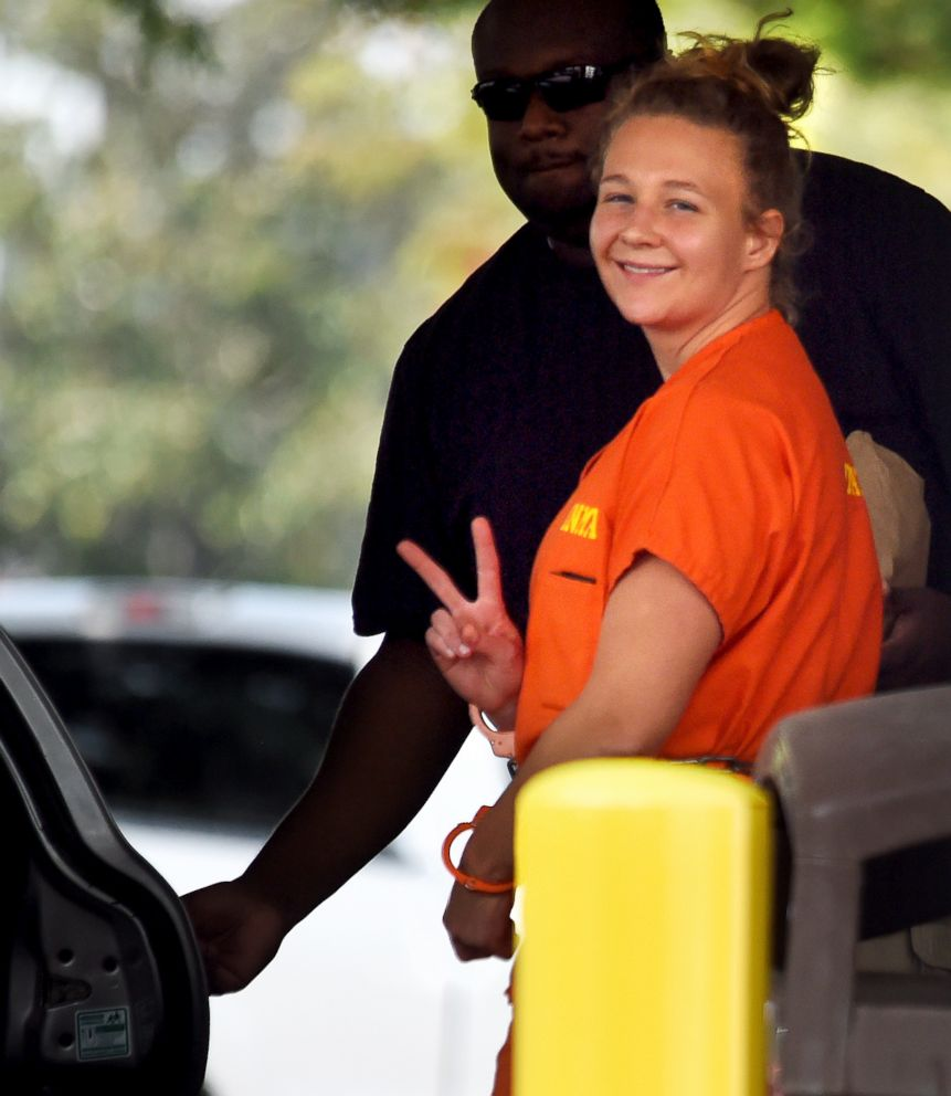 PHOTO: Reality Winner, who pleaded guilty to mailing a classified U.S. report to a news organization, walks out of a courthouse, Aug. 23, 2018, in Augusta, Ga.