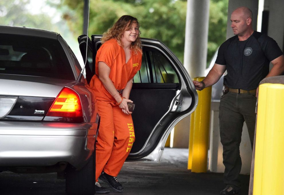 PHOTO: Reality Winner arrives at a courthouse after she pleaded guilty in June to copying a classified U.S. report and mailing it to an unidentified news organization, in Augusta, Ga., Aug. 23, 2018.