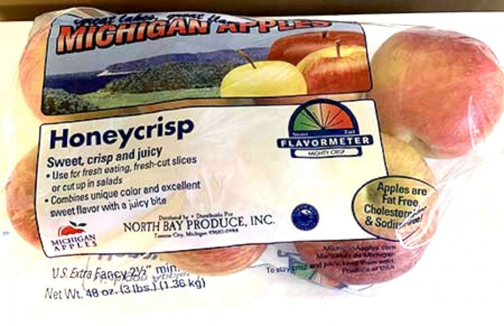 PHOTO: North Bay Produce voluntarily recalled over 2,000 cases and 2 bulk bins of fresh apples.