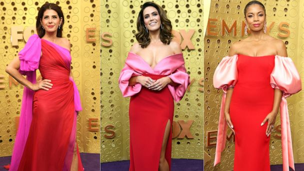 Pink and red dresses won the 2019 Emmys purple carpet