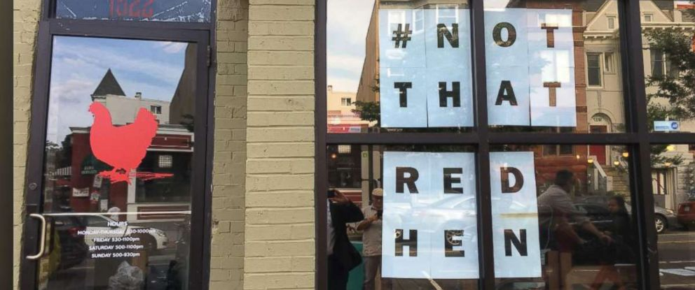 PHOTO: A Red Hen restaurant in Washington D.C. is taking steps to make sure diners know they are not the Red Hen that kicked out White House press secretary Sarah Sanders.