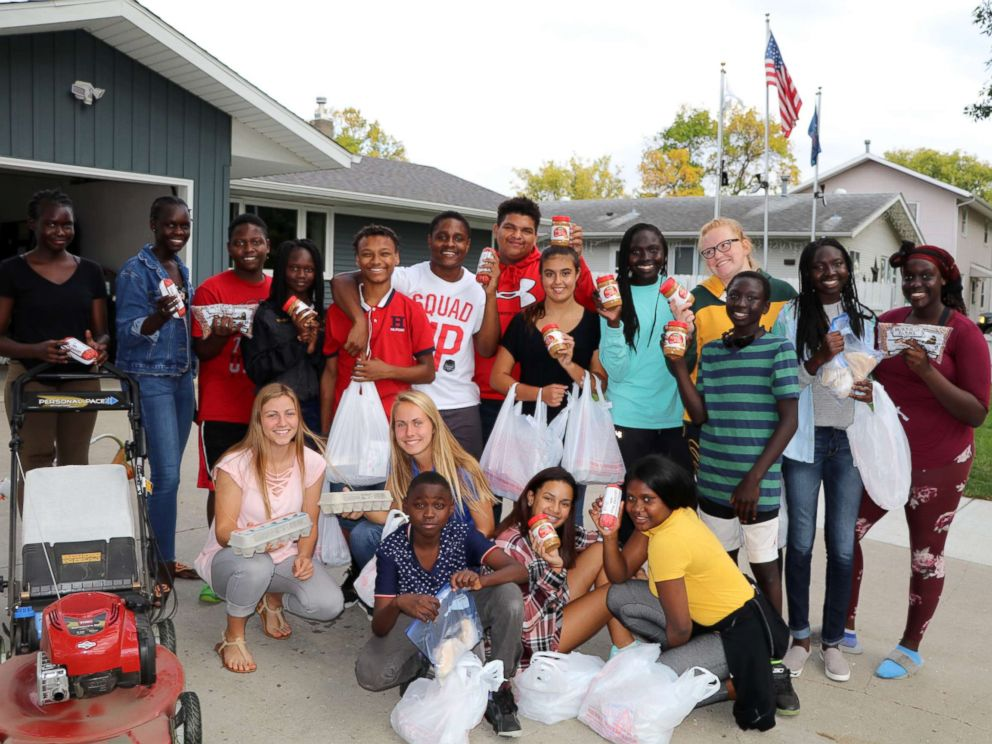 PHOTO: Legacy Childrens Foundation students making deliveries to families that need food in an undated photo.