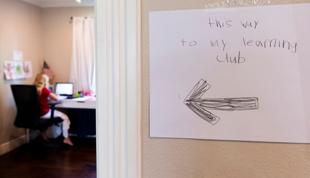 PHOTO: A student  studies during at-home learning in Orange, Calif., Dec. 9, 2020.