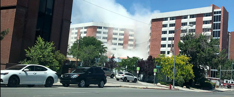 PHOTO: Authorities are responding to reports of a utility explosion on the campus of Reno University of Nevada Reno.
