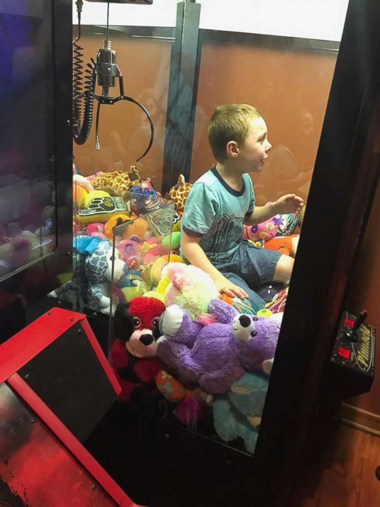 PHOTO: A young boy named Mason got stuck inside a claw machine and had to be rescued by firefighters.