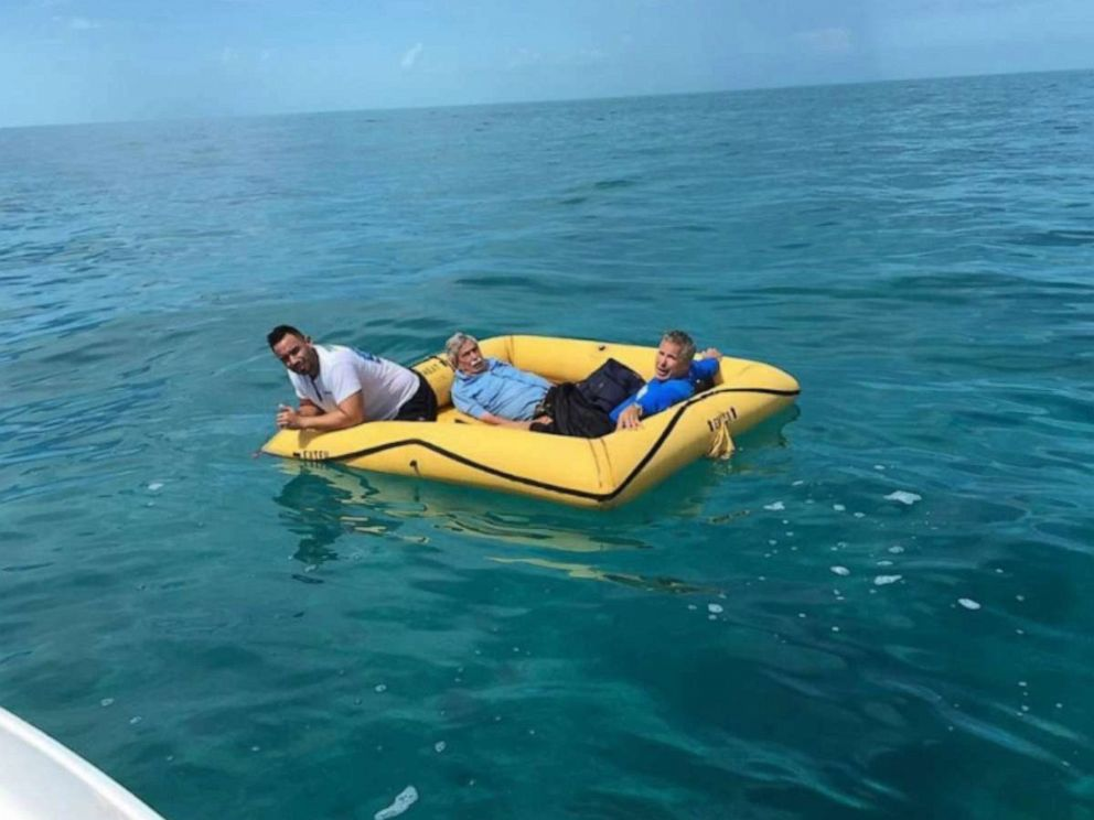 PHOTO: Three men were rescued by fishermen in the Bahamas after their plane crashed while headed to Miami on Thursday, Aug. 8, 2019.