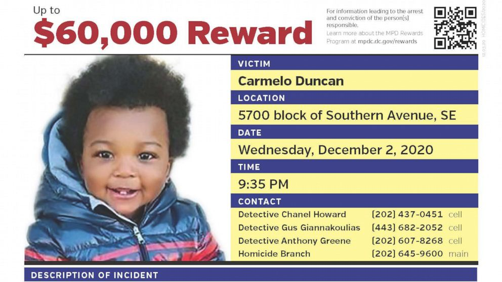 1-year-old boy shot dead in 'heinous crime,' reward offered for information: DC mayor