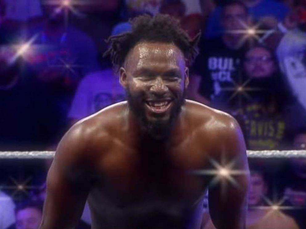 PHOTO: Rich Swann in a screengrab from Rich Swann Entrance Video posted to Youtube by WWE, Oct. 1, 2016.